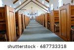 funeral casket  coffin burial ... | Shutterstock . vector #687733318