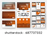 website template  one page... | Shutterstock .eps vector #687737332