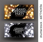 grand opening sparkling gold... | Shutterstock .eps vector #687742456