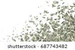 currency money dollar flying in ... | Shutterstock . vector #687743482