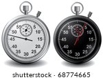 vector stop watch in high... | Shutterstock .eps vector #68774665