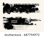vector set of black brush... | Shutterstock .eps vector #687754972