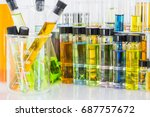 laboratory glass chemical vials ... | Shutterstock . vector #687757672