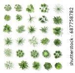 set of treetop symbols  for... | Shutterstock .eps vector #687758782