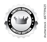 silver limited edition badge... | Shutterstock .eps vector #687759625