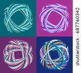 set of vector design elements... | Shutterstock .eps vector #687760342