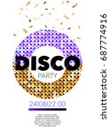 vertical disco music party... | Shutterstock .eps vector #687774916