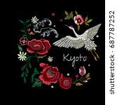 embroidery oriental folk... | Shutterstock .eps vector #687787252