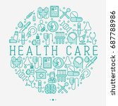 health care concept in circle...   Shutterstock .eps vector #687788986
