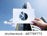 market share competition... | Shutterstock . vector #687789772