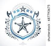 old style heraldry  heraldic... | Shutterstock .eps vector #687793675