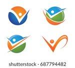 human character logo sign | Shutterstock .eps vector #687794482