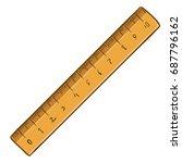 vector cartoon brown wooden... | Shutterstock .eps vector #687796162