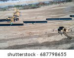 aerial view of construction of... | Shutterstock . vector #687798655