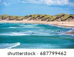 north sea beach  jutland coast... | Shutterstock . vector #687799462