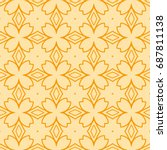 seamless floral geometric... | Shutterstock .eps vector #687811138