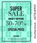 super sale best offer 30 70 ... | Shutterstock .eps vector #687818905