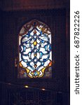 stained glass windows in the... | Shutterstock . vector #687822226