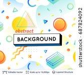 vector multicolored geometric... | Shutterstock .eps vector #687824092