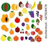 fresh juicy exotic sweet fruits ... | Shutterstock .eps vector #687828478