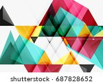triangular low poly vector a4... | Shutterstock .eps vector #687828652