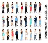 trendy isometric people 3d man... | Shutterstock .eps vector #687833335