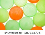 colorful plastic cover close up ... | Shutterstock . vector #687833776