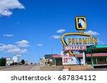 tucumcari  new mexico   july 21 ... | Shutterstock . vector #687834112