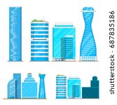 skyscrapers buildings isolated... | Shutterstock .eps vector #687835186