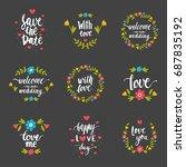 vector hand drawn typography... | Shutterstock .eps vector #687835192