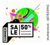 summer sale memphis style web...   Shutterstock .eps vector #687835942