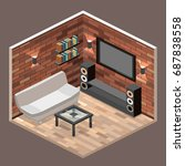 flat 3d isolated concept vector ... | Shutterstock .eps vector #687838558
