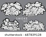 smoke and cloud cartoon design...