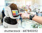 robotics trends technology and... | Shutterstock . vector #687840352