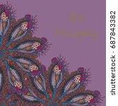 abstract zentangle inspired art ... | Shutterstock .eps vector #687843382