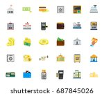banking icons | Shutterstock .eps vector #687845026