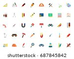 tools icons | Shutterstock .eps vector #687845842