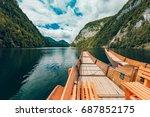beautiful scenery of high... | Shutterstock . vector #687852175