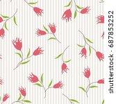 abstract flower pattern | Shutterstock .eps vector #687853252