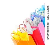 Many Colorful Shopping Bags On...