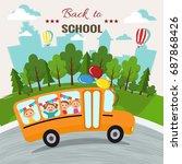 welcome back to school vector... | Shutterstock .eps vector #687868426