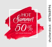 hot summer sale 50  off sign... | Shutterstock .eps vector #687868996