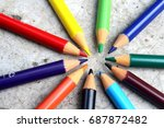 color pencil | Shutterstock . vector #687872482