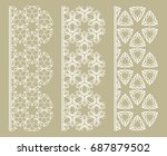vector set of line borders with ... | Shutterstock .eps vector #687879502