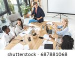 multicultural business team... | Shutterstock . vector #687881068