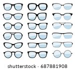 a set of glasses isolated....   Shutterstock .eps vector #687881908