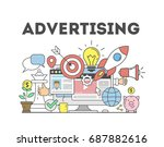 advertising concept... | Shutterstock . vector #687882616
