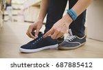 women's shopping   girl chooses ... | Shutterstock . vector #687885412