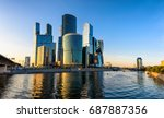 skyscrapers of moscow city... | Shutterstock . vector #687887356