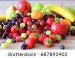 colourful variety fruits   Shutterstock . vector #687892402